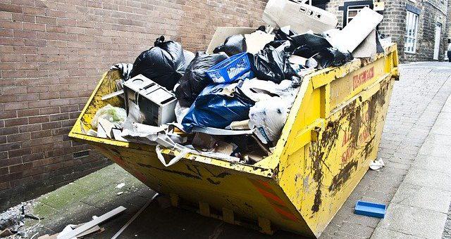 Een afvalcontainer is hartstikke handig